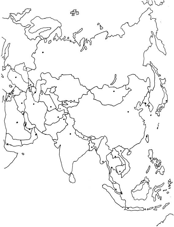 Mapa De Asia Mudo.Juegos De Geografia Juego De Paises De Asia 1 Cerebriti