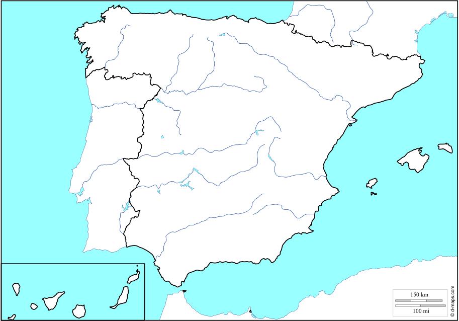 Mapa Fisico Peninsula Iberica Rios.Juegos De Geografia Juego De Rios De La Peninsula Iberica