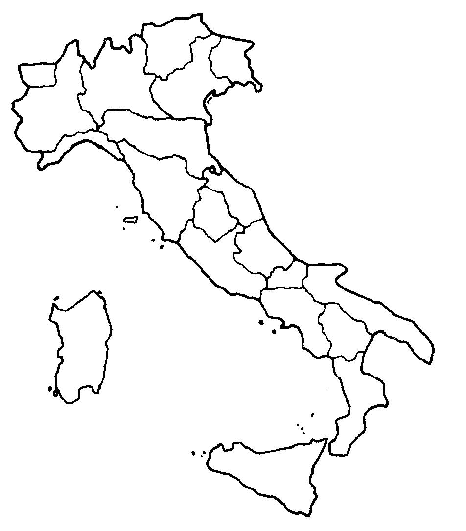 Cartina Ditalia.Le Regioni D Italia Cartina Muta