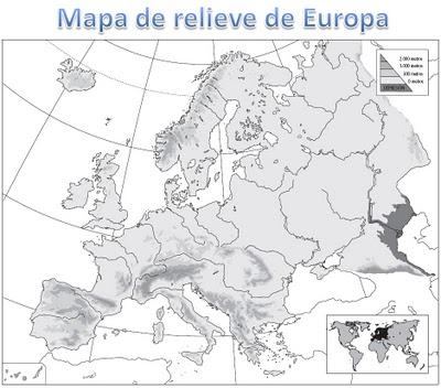 Mapa Mudo Relieve Europa.Juegos De Geografia Juego De Mapa Fisico De Europa 7