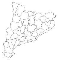 Mapa Comarques De Catalunya Per Imprimir.Mapa Mut Comarques De Catalunya Mapa