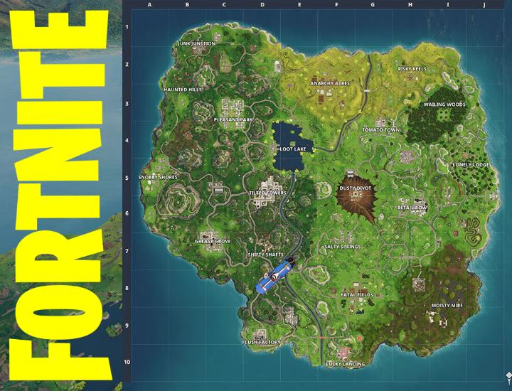 Mapa Fortnite Temporada 4.Juegos De Ocio Juego De El Mapa De Fortnite En La