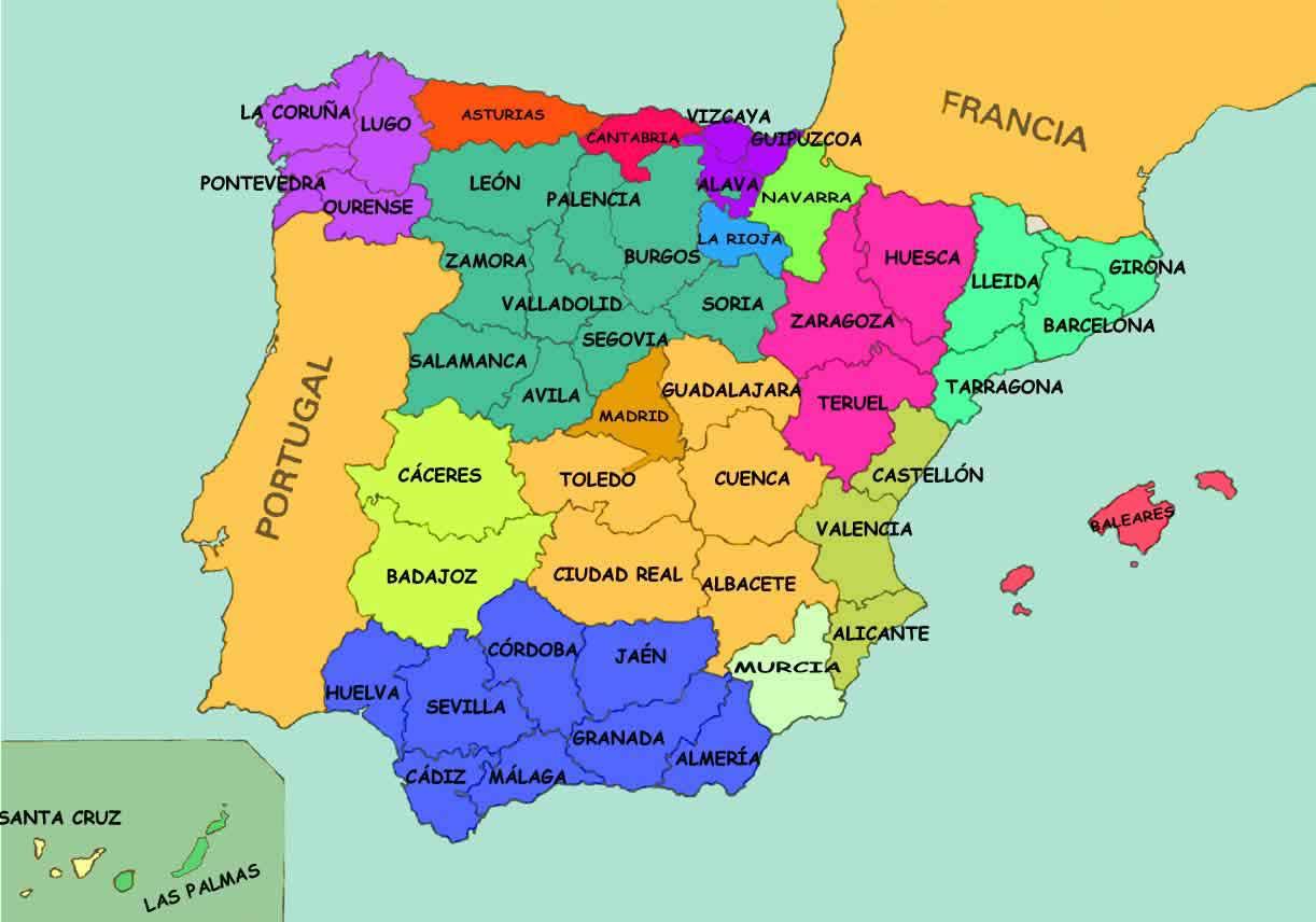 Juegos de Geografa  Juego de Espaa Comunidades provincias y