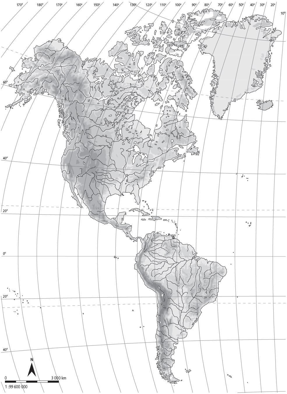 Mapa Fisico De America Mudo.Juegos De Geografia Juego De Mapa Fisico De America