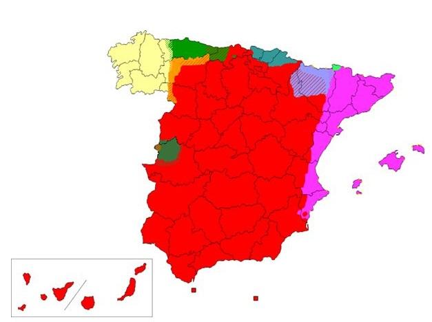 Mapa Lenguas De España.Juegos De Lengua Juego De Lenguas En Espana Cerebriti