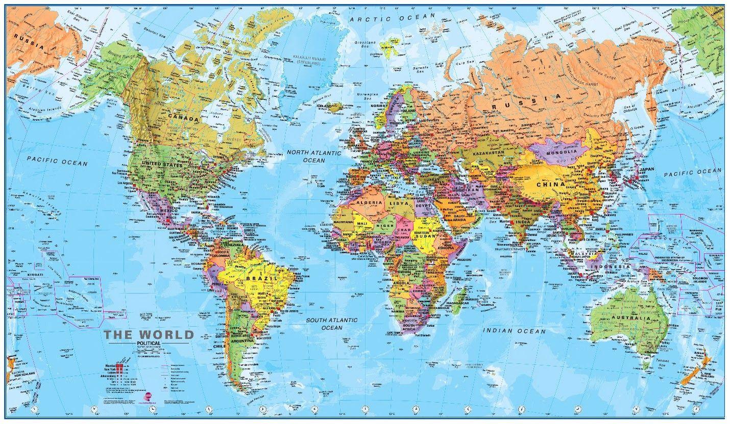 Mapa Para Jugar Dónde Está Continentes Y Océanos: Juego De Continentes Y Océanos