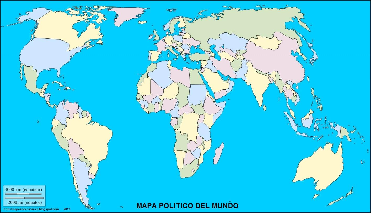 Mapa politico del mundo con nombres for Mapa del mundo decoracion