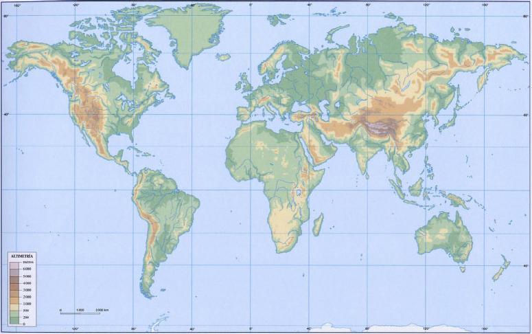 Mapa Del Mundo Mudo.Juegos De Geografia Juego De Mapamundi Relieve 1º Eso