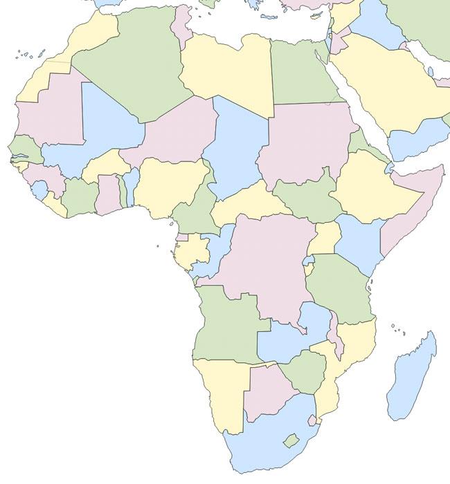 Juegos de Geografa  Juego de Paises Africa Mapa  Cerebriti