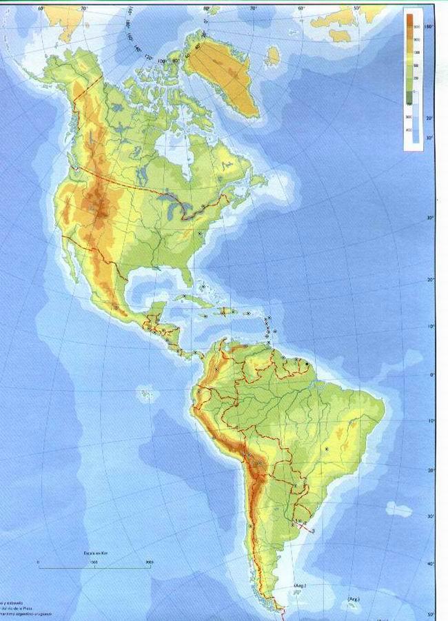 Mapa Mudo De America Fisico.Juegos De Geografia Juego De America Fisico Mudo Cerebriti