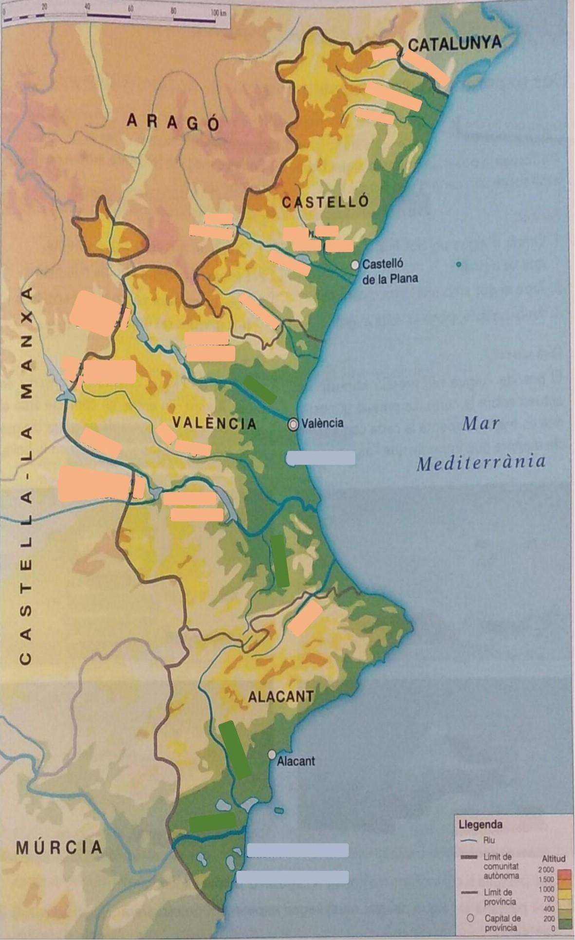 Mapa Rios Comunidad Valenciana.Juegos De Geografia Juego De La Hidrografia De La