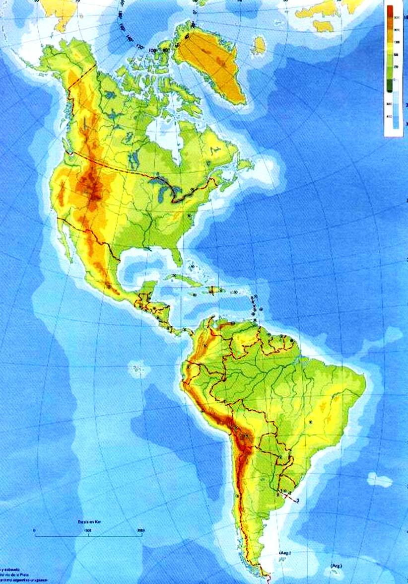 Mapa Mudo De America Fisico.Juegos De Geografia Juego De America Fisico Rios Y Montes