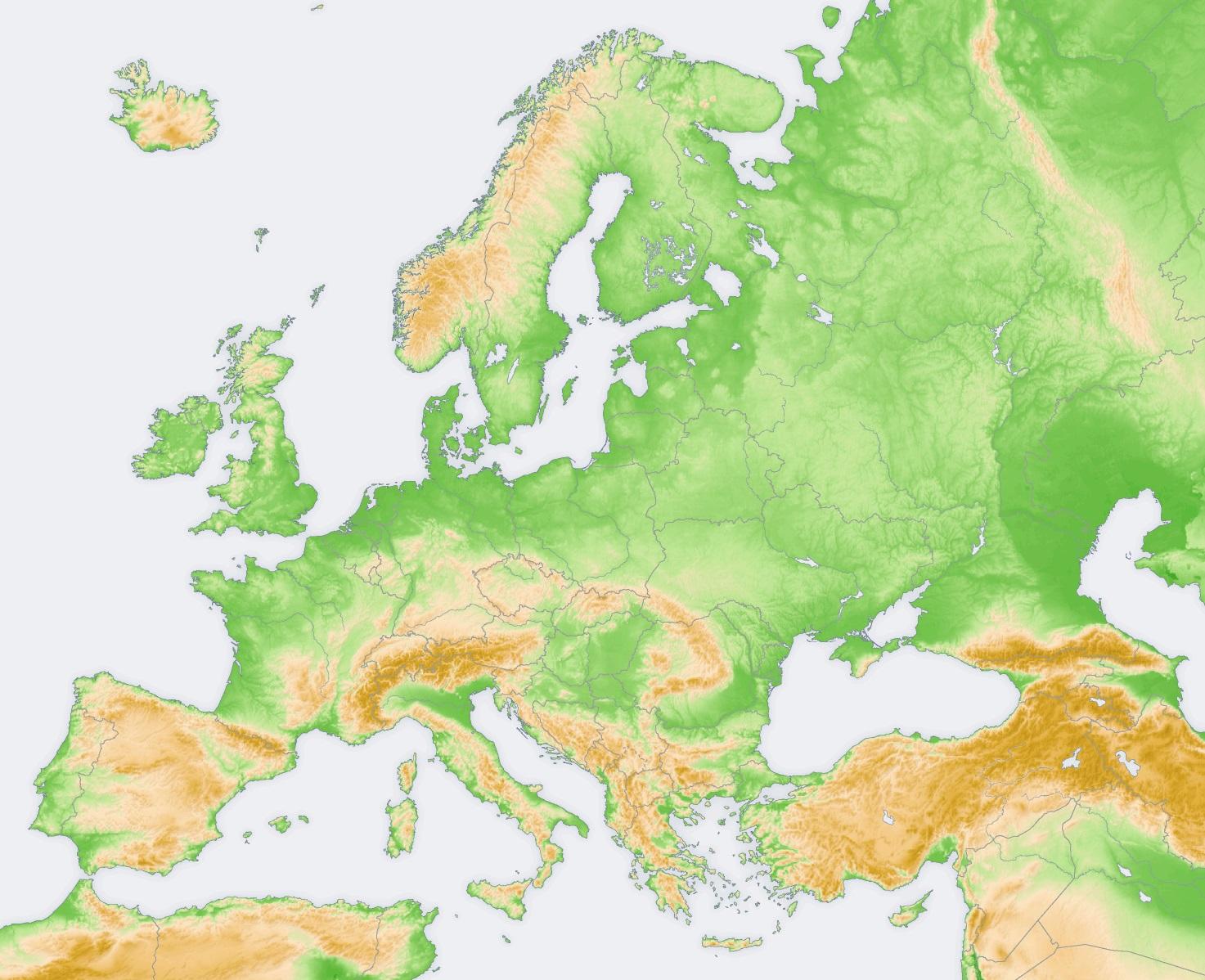 Mapa Mudo Relieve Europa.Juegos De Geografia Juego De Relieve De Europa Sistemas