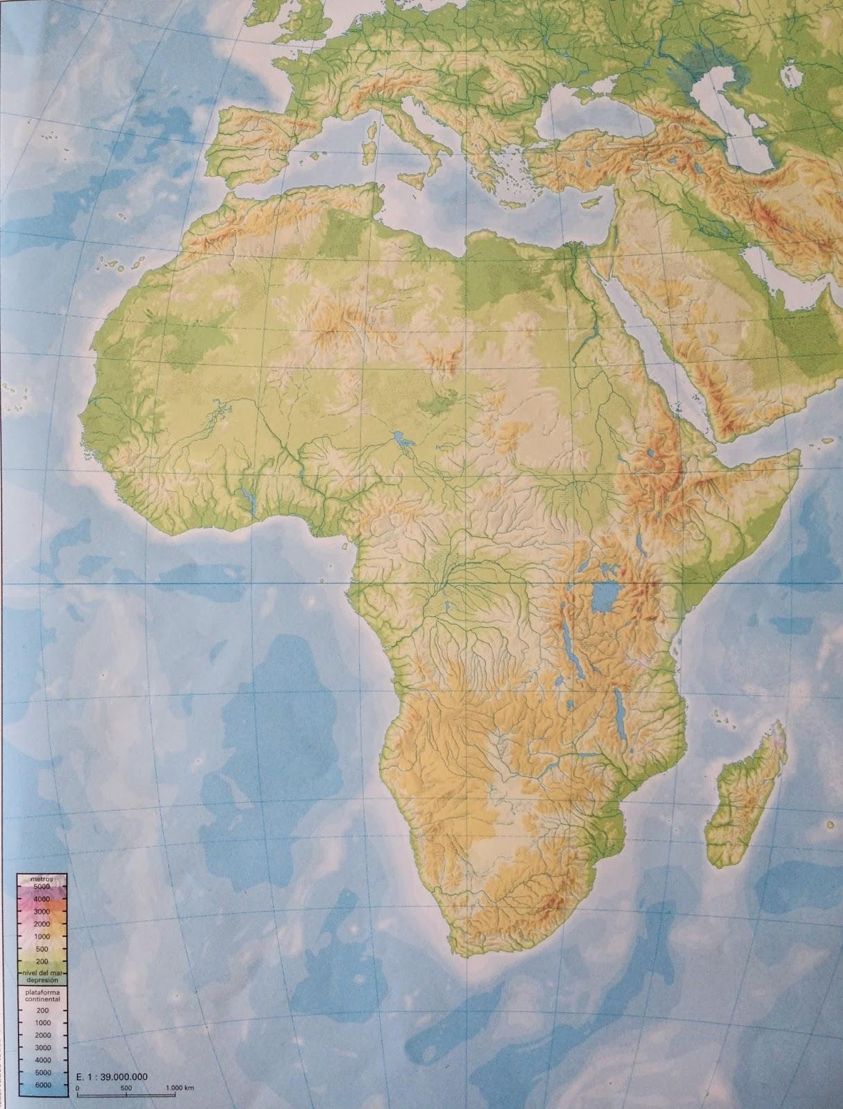 Mapa Africa Fisico Mudo.Juegos De Geografia Juego De Mapa Fisico De Africa 1