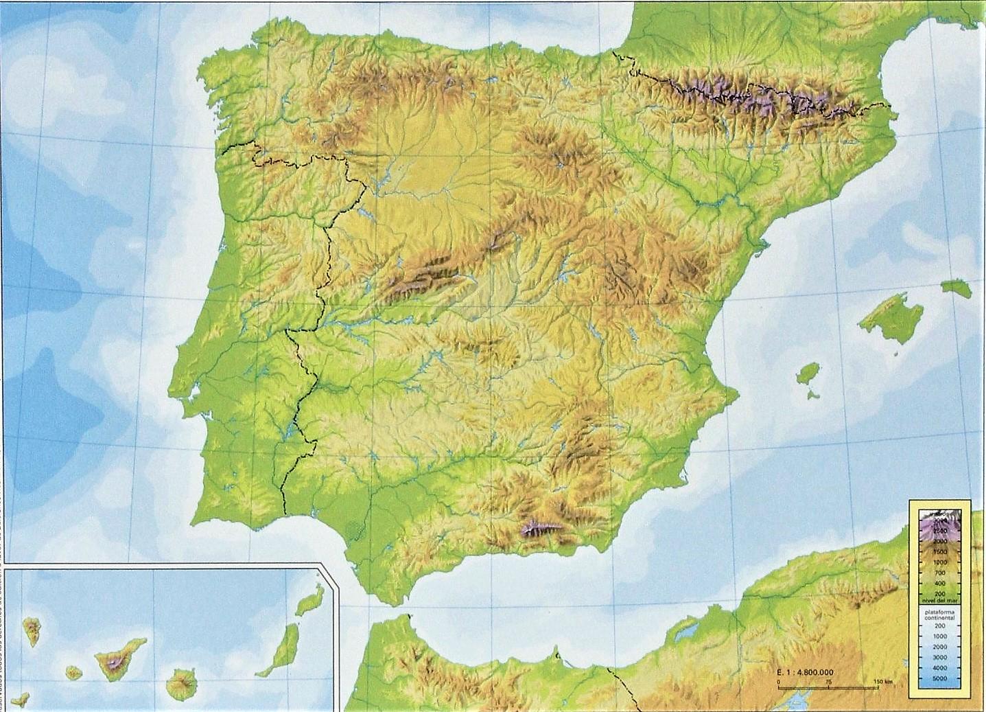 Juegos De Geografia Juego De Relieve Basico De Espana 1