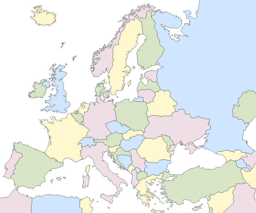 Juegos de Geografa  Juego de Mapa Mudo Europa  Cerebriti