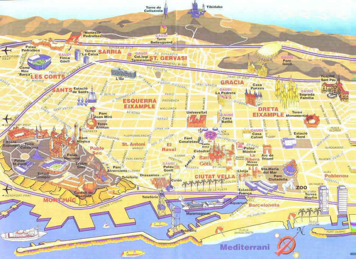 Juegos de geograf a juego de ubica los monumentos de barcelona en el mapa cerebriti - Sitges tourist information office ...