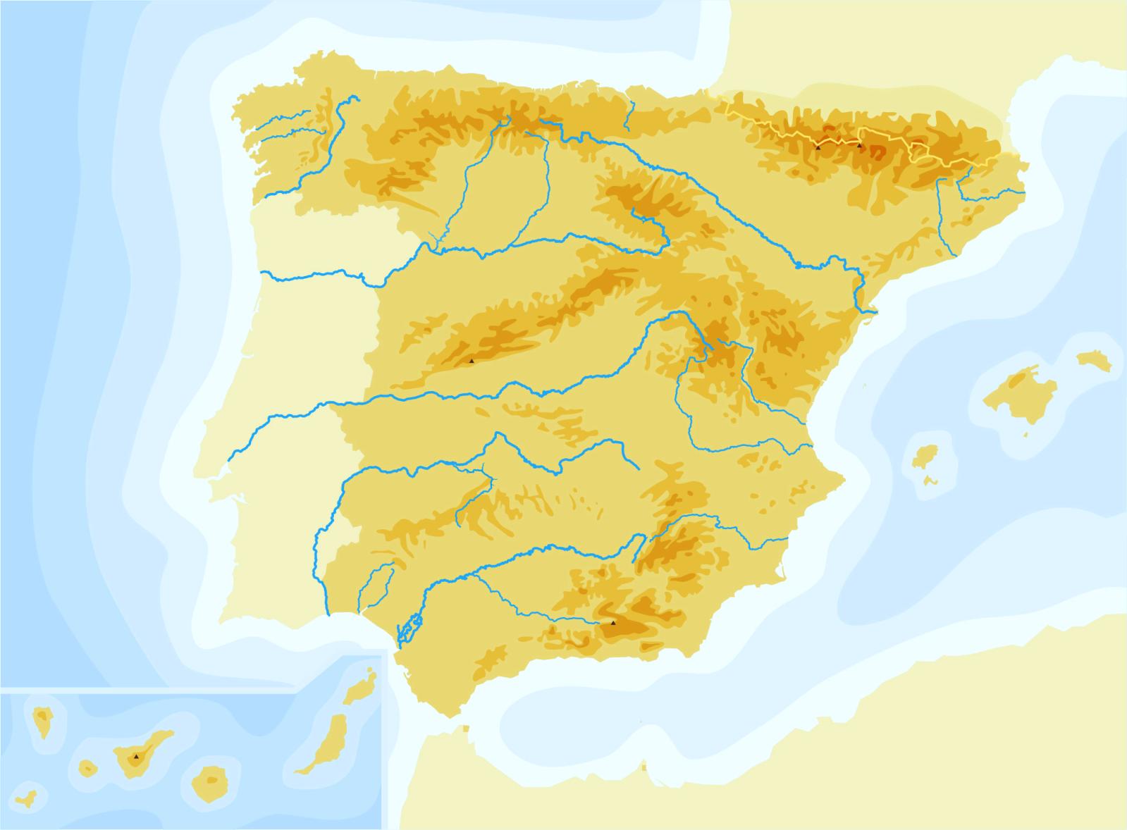 Mapa De España Físico.Juegos De Geografia Juego De Espana Mapa Fisico Cerebriti