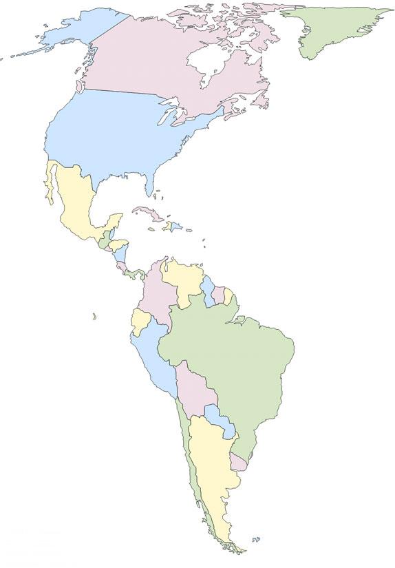 Juegos de Geografa  Juego de Pases de Amrica  Cerebriti