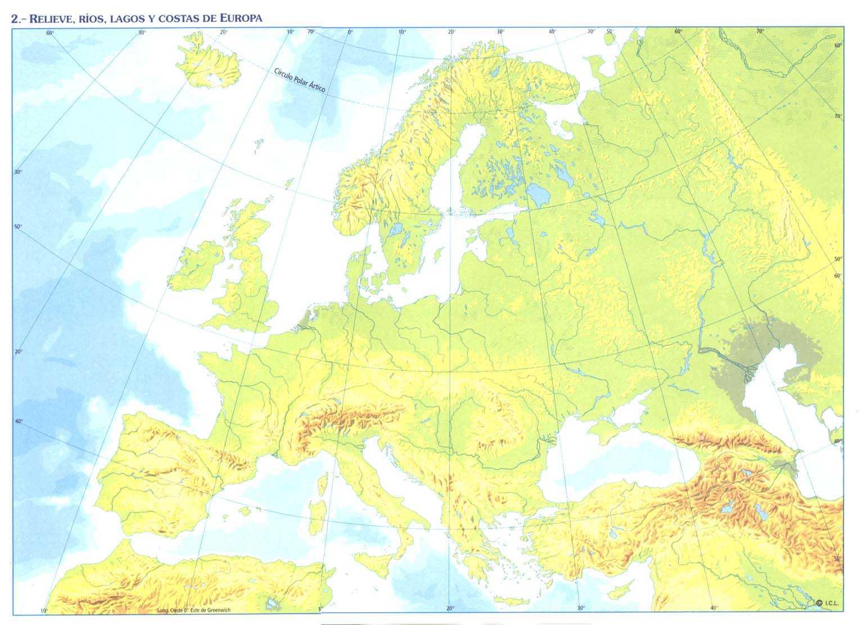 Juegos de Geografa  Juego de Mapa fsico de los continentes