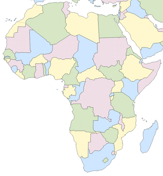 Mapa De Africa Vacio.Juegos De Geografia Juego De Mapa Mudo Africa Cerebriti