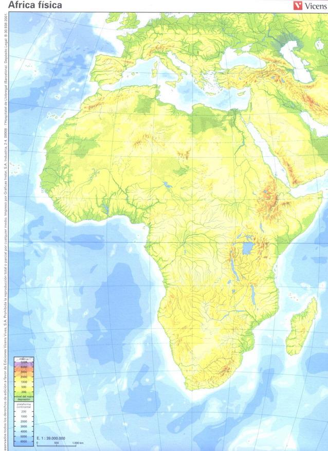 Mapa Africa Fisico Mudo.Juegos De Geografia Juego De Africa Fisico 1 Cerebriti