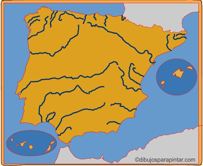 Mapa Rios De España 6 Primaria.Juegos De Geografia Juego De Rios De Espana Para Ninos