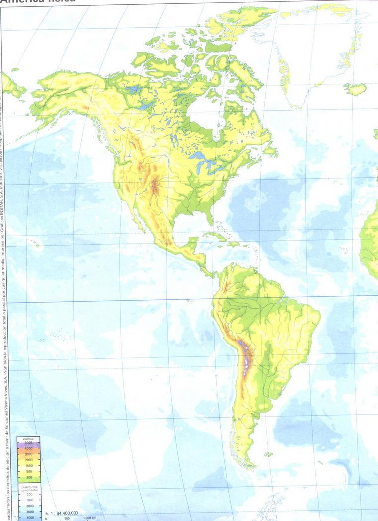 Mapa Fisico De America Mudo.Juegos De Geografia Juego De El Relieve De America Cerebriti