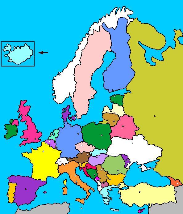 Juegos de Geografa  Juego de Pases de Europa fcil  Cerebriti