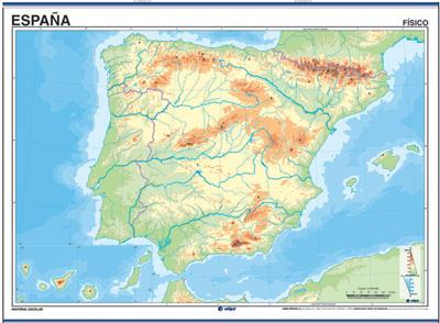 Juegos de Geografía | Juego de Mapa físico: España y Península