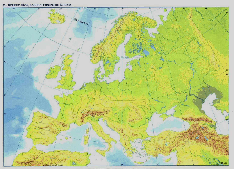 Mapa Mudo Relieve Europa.Juegos De Geografia Juego De Relieve Europa 6º Primaria