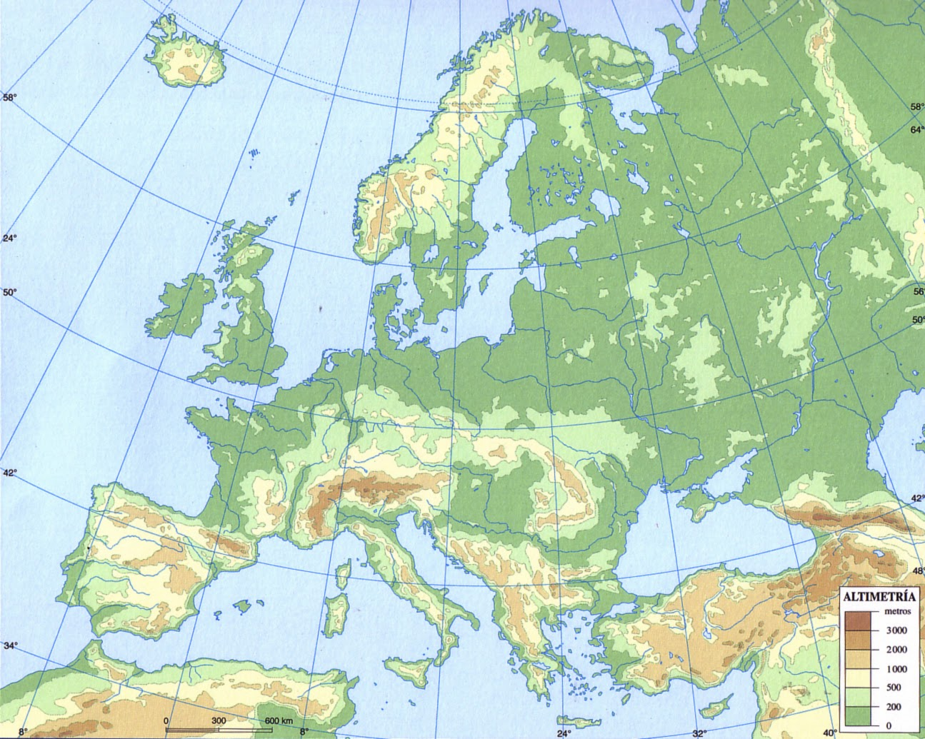 Mapa Fisico De Europa Mudo Para Imprimir.Juegos De Geografia Juego De Los Grandes Rios Del