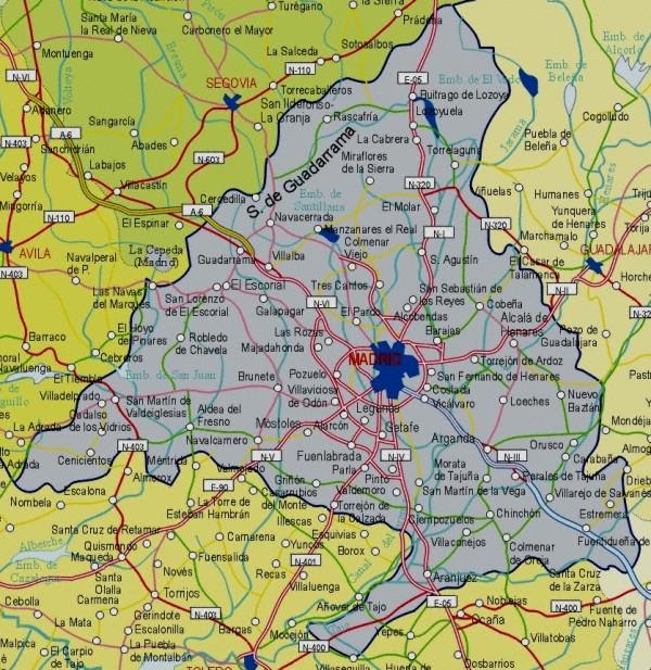 Juegos de geograf a juego de mapa comunidad de madrid for Correo comunidad de madrid