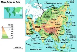 Mapa De Asia Fisico.Asia Fisico Mapa Mapa