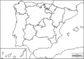Mapa De Comunidades Autonomas En Blanco.Juegos De Geografia Juego De Mapa Mudo Comunidades