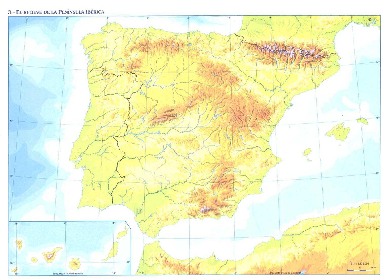 Mapa Relieve De España.Juegos De Geografia Juego De Relieve De Espana 1 Cerebriti