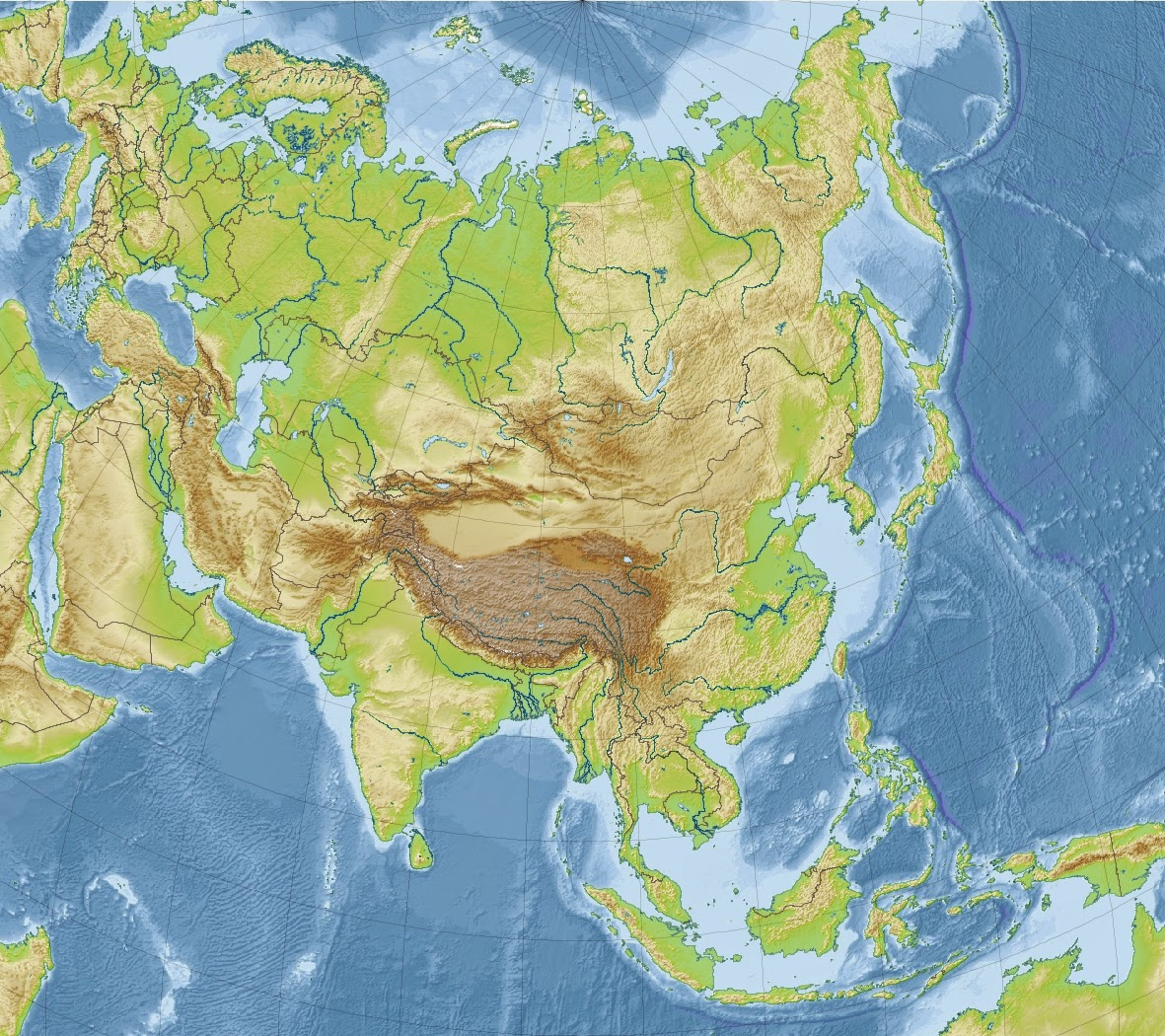 Juegos de Geografa  Juego de Relieve de Asia mapa mudo  Cerebriti