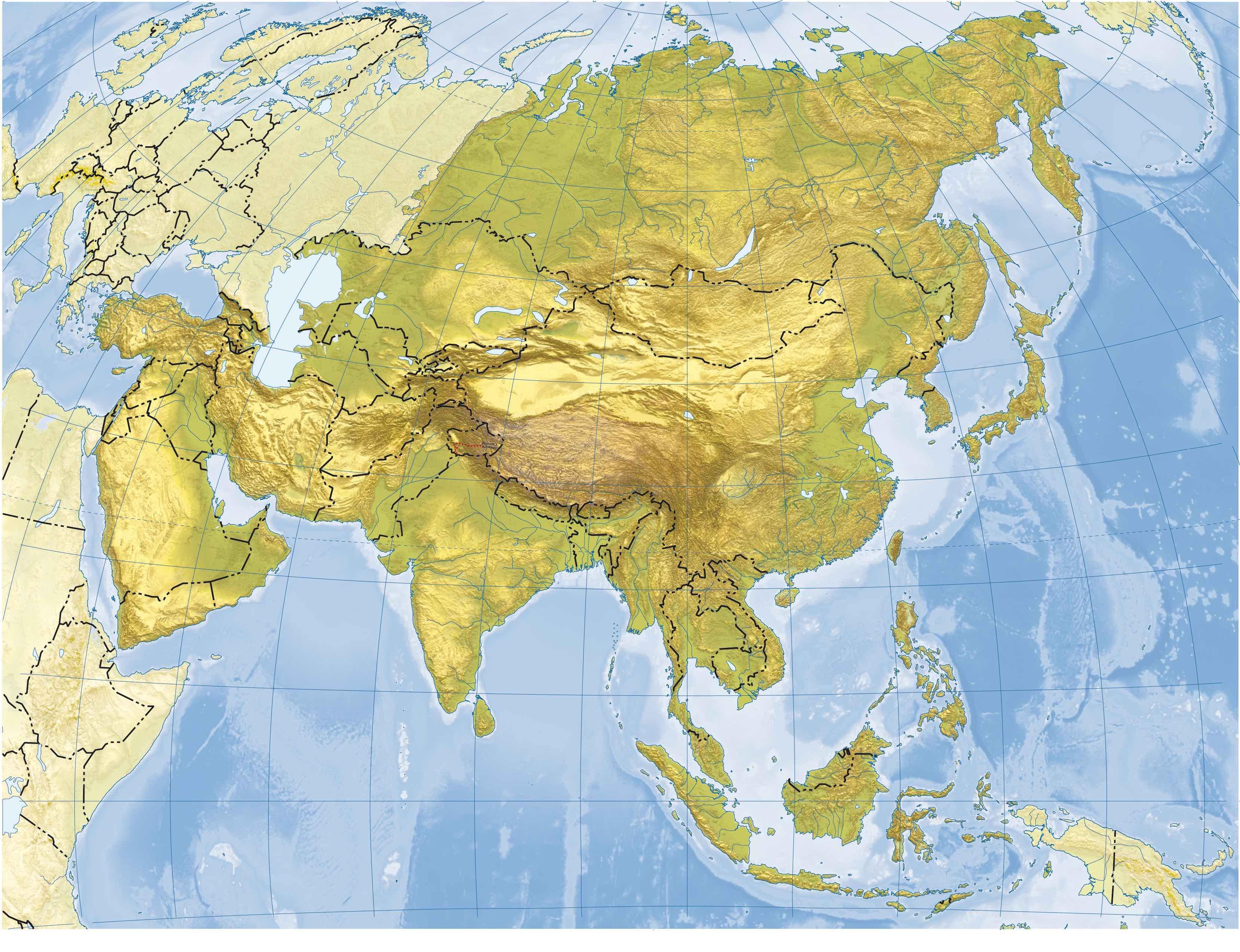 Juegos de Geografa  Juego de Asia fsico 3 mesetas desiertos y