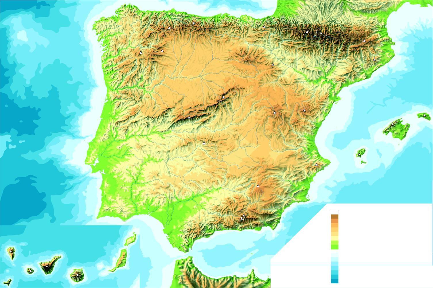 Juegos de Geografa  Juego de El relieve de la Pennsula Ibrica