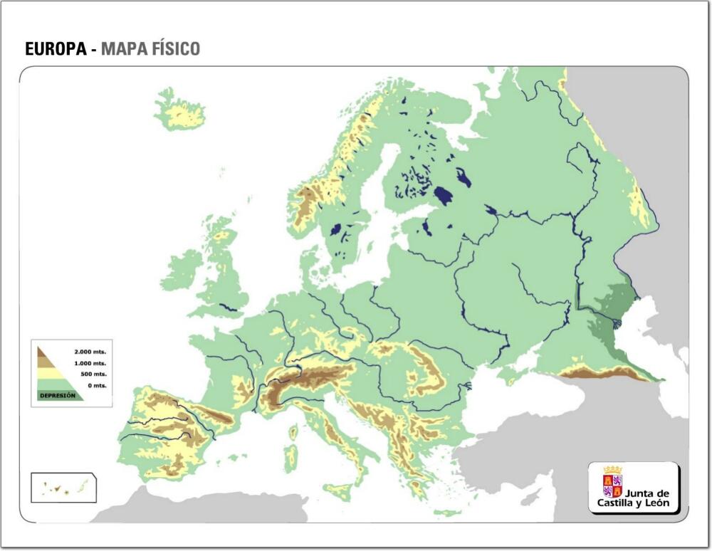 Mapa Europa Fisico Rios.Juegos De Geografia Juego De Mapa Con Rios De Europa 1