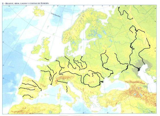 Mapa Fisic D Europa Rius.Juegos De Geografia Juego De Els Rius D Europa Cerebriti