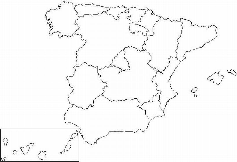 Resultado de imagen de mapa mudo comunidades autonomas