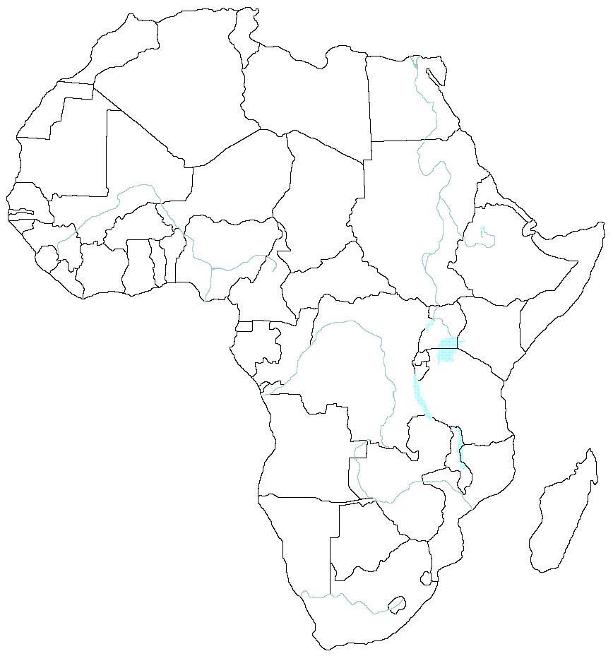 Africa Mapa Politico Mudo.Juegos De Geografia Juego De Paises Africanos Cerebriti
