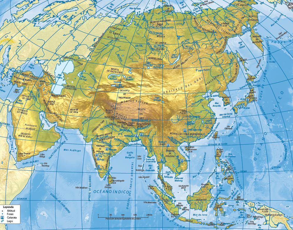 Peninsula Indostan Mapa Fisico.Juegos De Geografia Juego De Asia Fisico Golfos Y
