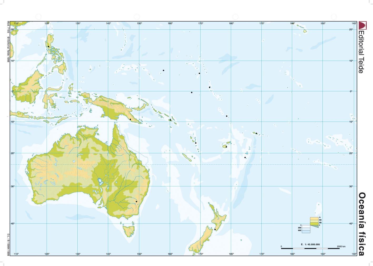 Juegos De Geografia Juego De Mapa Fisico De Oceania 2 Cerebriti