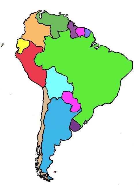 Mapa Politico De Sudamerica.Juegos De Geografia Juego De Mapa Politico De America Del