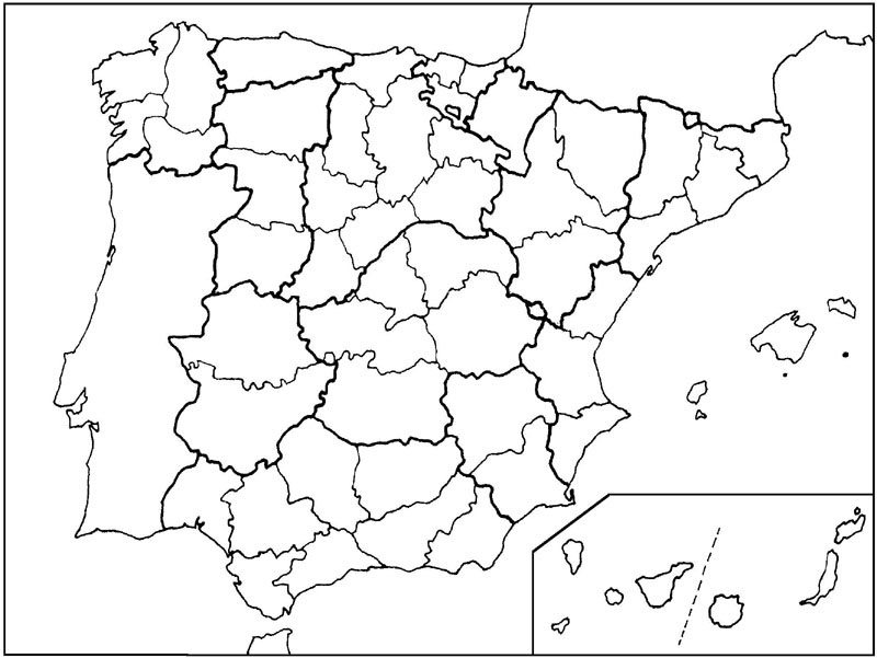 Mapa De España Por Provincias | Marketingfinest