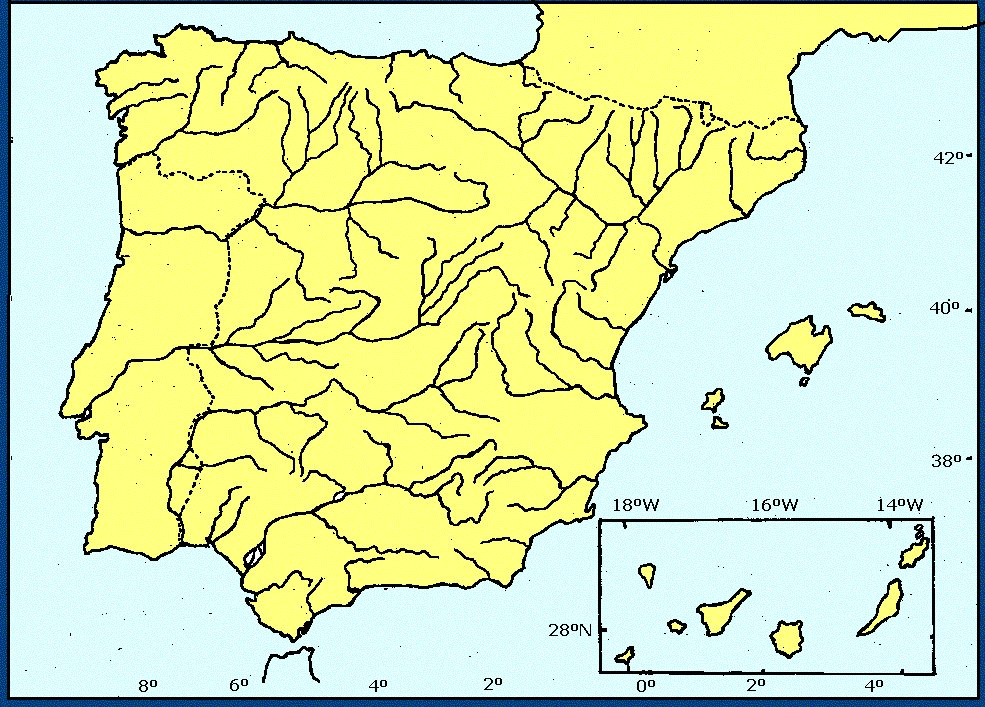 Juegos de Geografa  Juego de Mapa Mudo Ros de Espaa  Cerebriti
