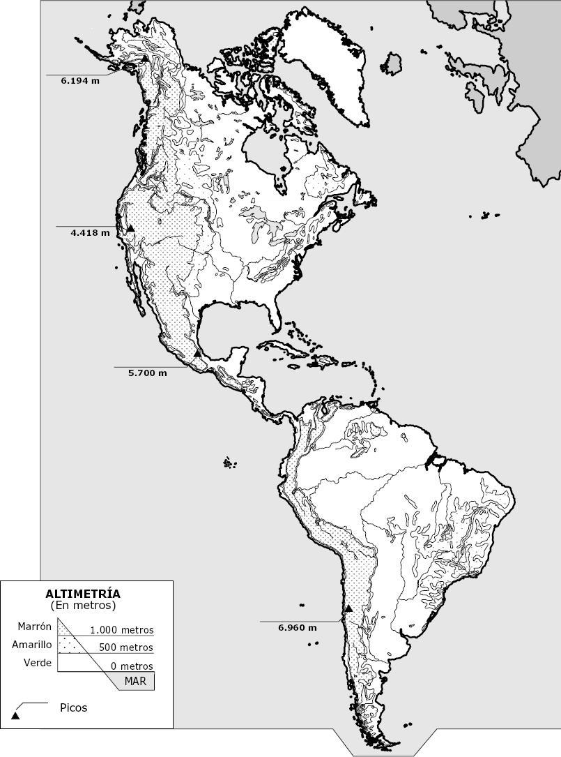 Juegos De Geografía Juego De Accidentes Geográficos De América - America mapa juego