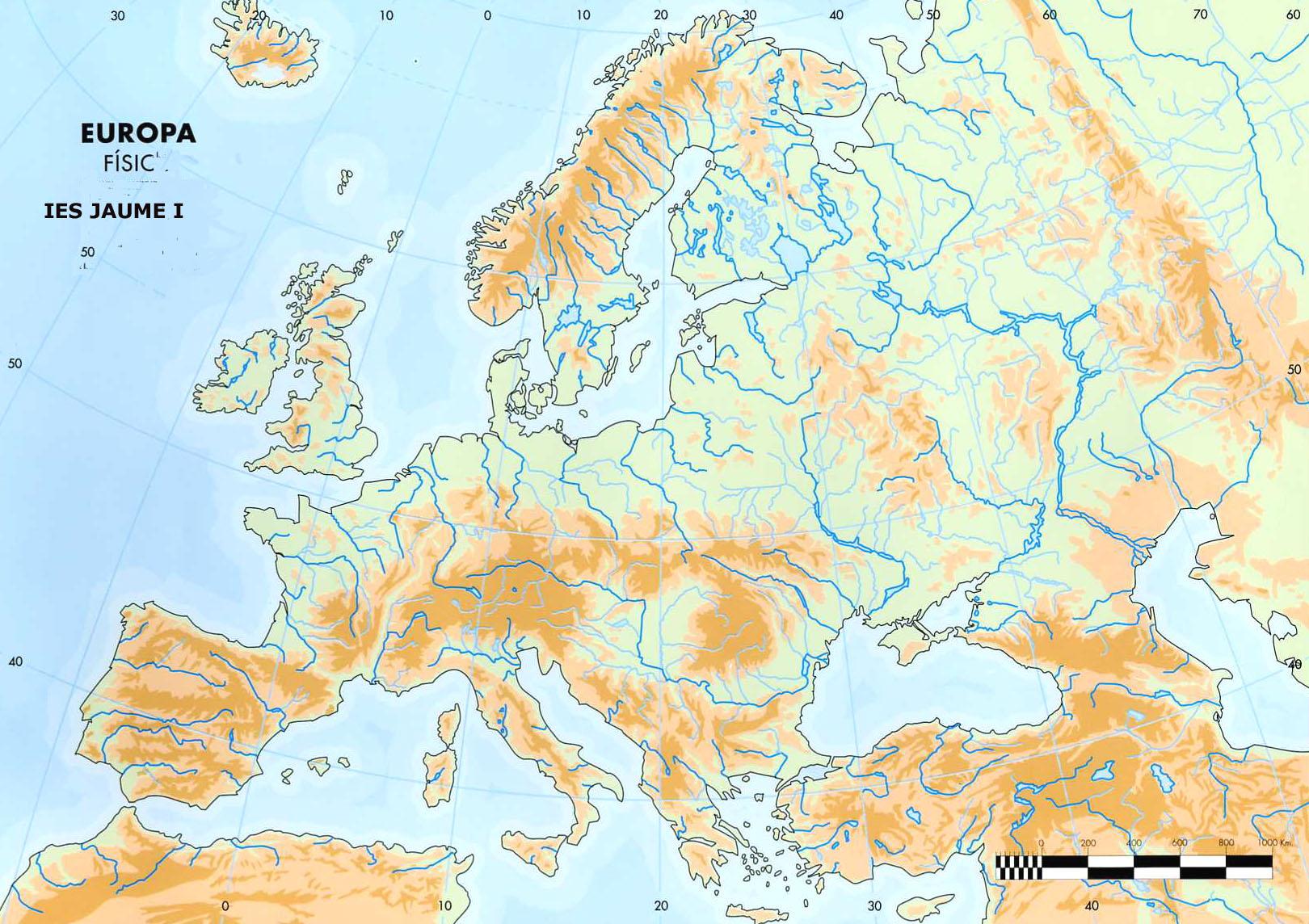 Juegos De Geografia Juego De Mapa Fisico De Europa 3º Eso